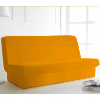 Housse de clic clac unie Orange 135x195 cm