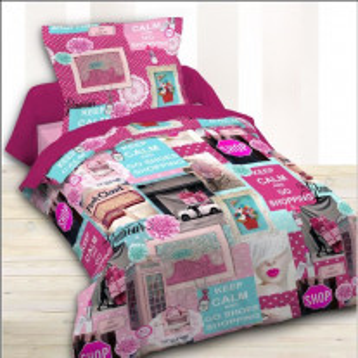 Housse de couette Fille 140x200 Pink Shopping
