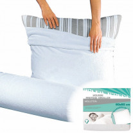 Housse protège oreiller 60x60cm molleton