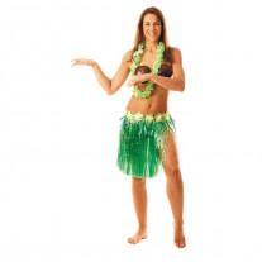 Jupe hawai Verte Luxe 45cm