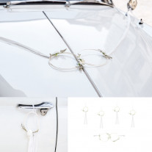 Kit de décoration voiture Rotin Blanc