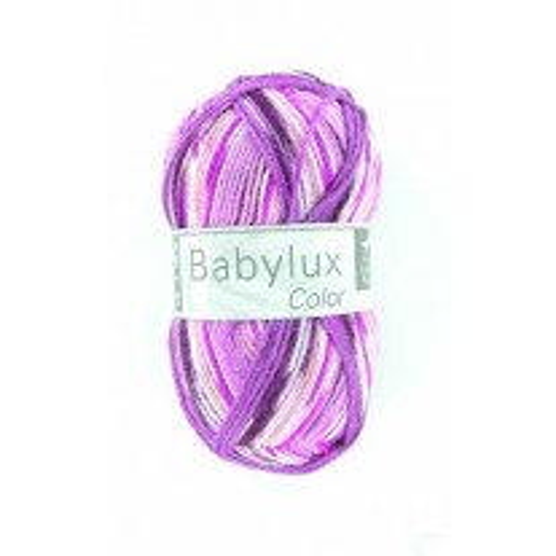 laine a tricoter babyluxcolor rose et violet