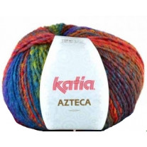 Fil à tricoter Katia Azteca Prune et Bleu