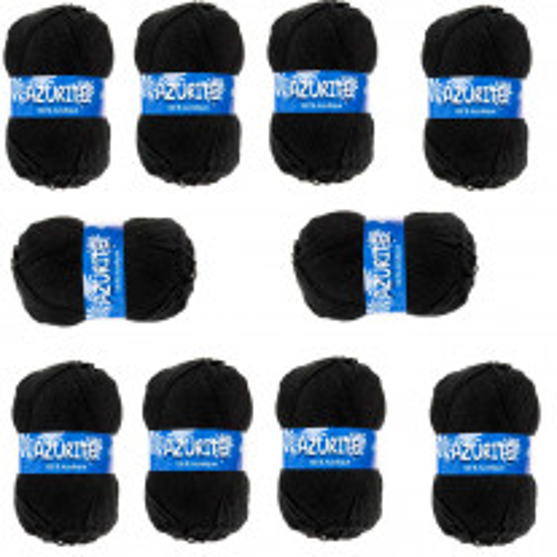 10 Pelotes de laine Azurite Noir