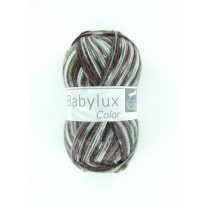 Laine cheval blanc babylux color gris naturel