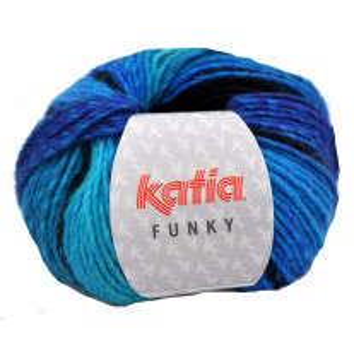 Laine Katia Funky Turquoise Noir