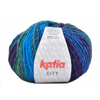 Fil tricot fantaisie City Turquoise