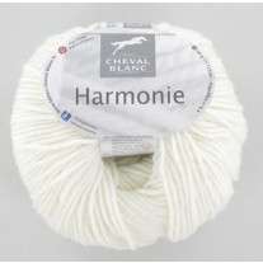 Laine à tricoter avec cachemire Ecru Cheval Blanc Harmonie
