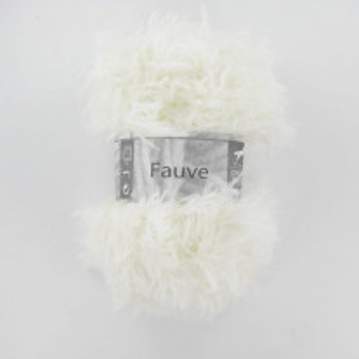 Laine à tricoter fourrure Cheval Blanc Fauve Naturel