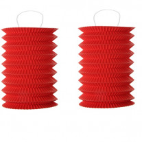 Lampion mariage cylindrique Rouge