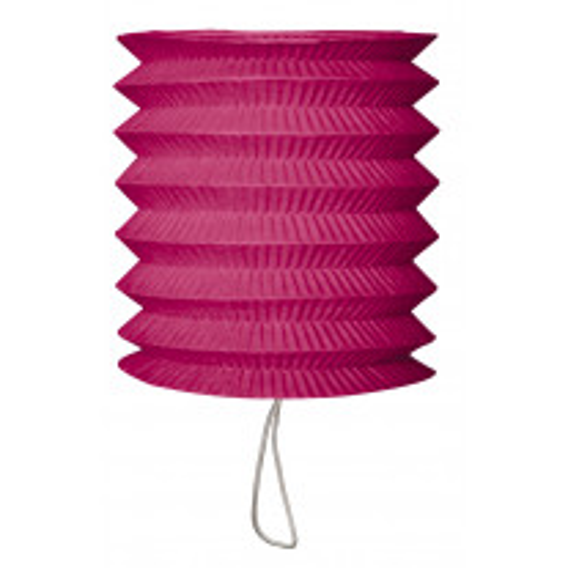 Lampion en papier cylindrique Fuchsia 15cm