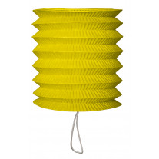Lampion en papier cylindrique Vert anis 15cm