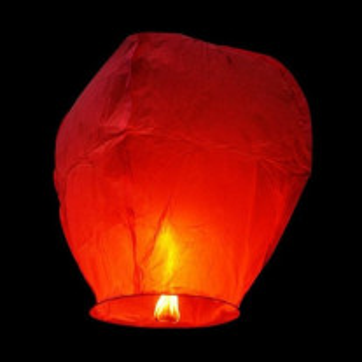 Lanterne Celeste Volante Rouge