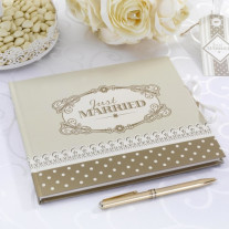 Livre d'or Chic Just Married Or