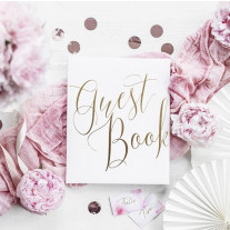 Livre d'or luxe Blanc Guest Book