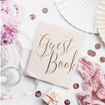 Livre d'or luxe Rose Guest Book