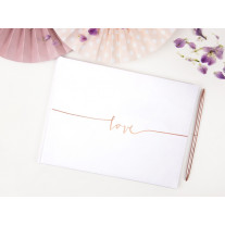 Livre d'or mariage Blanc Love Rose gold