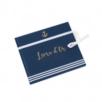 Livre d'or Marine Ancre Or
