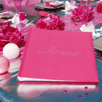 Livre d'or Strass Fuchsia Amour