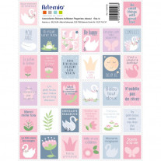 Lot de 64 timbres adhésifs Lovely Swan