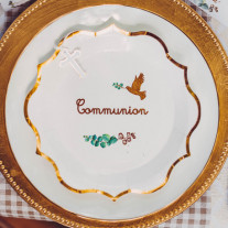 Lot de 8 Assiettes Carton Communion