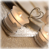 Marque place mariage Bougeoir Coeur