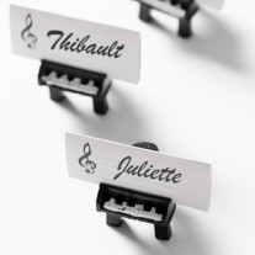 Marque place en carton Musique
