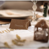 Marque place etiquette communion kraft