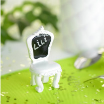 Marque place mariage Chaise Blanc