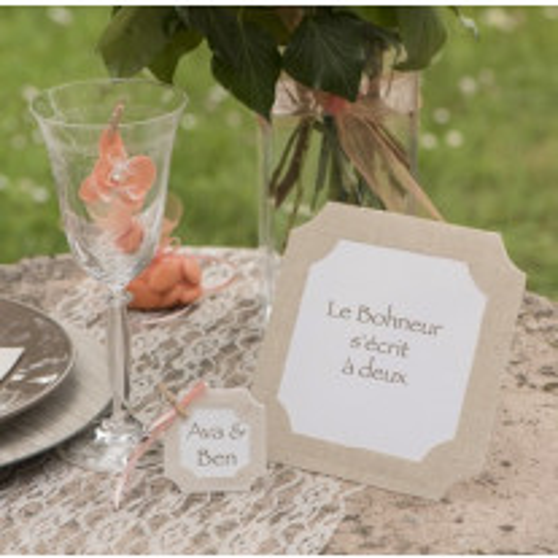 Marque table cadre mariage naturel