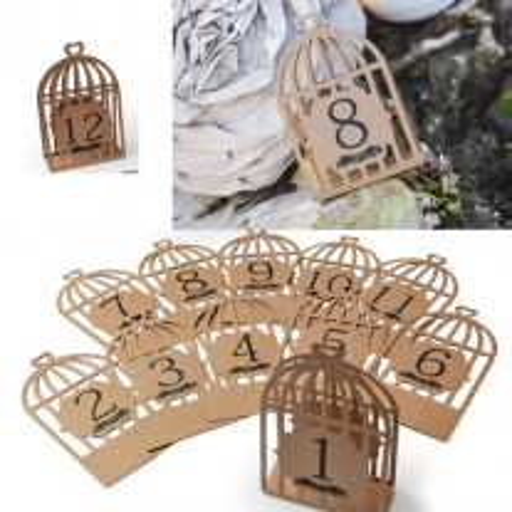 Marque table kraft cage a oiseau