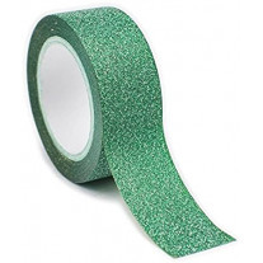 Masking tape Vert Pailleté