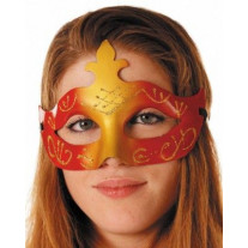 Masque Vénitien Rouge et Or