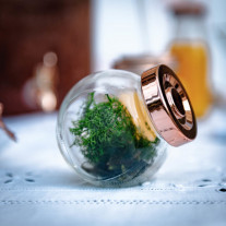 Mini bocal a dragees mariage rose gold