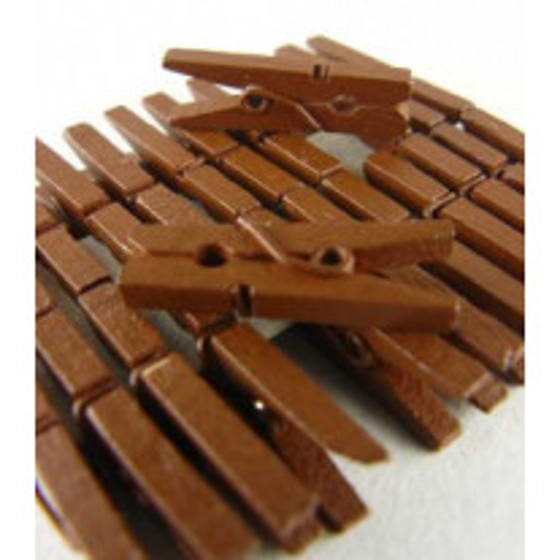 Mini pince à linge Chocolat