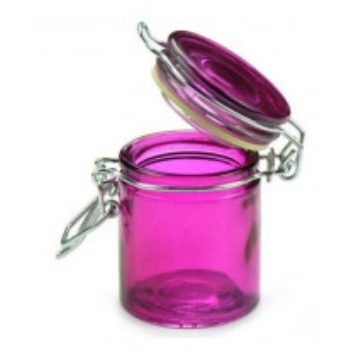 Mini pot a dragées confiture en verre Fuchsia