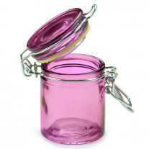 Mini pot a dragées confiture en verre Rose