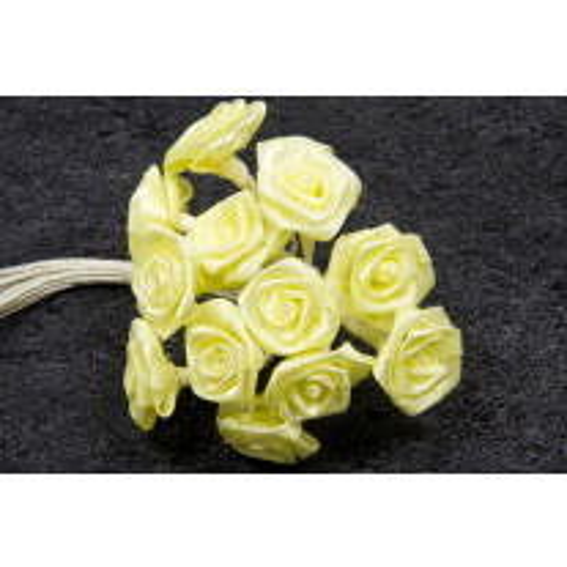 Mini rose mariage en satin Jaune