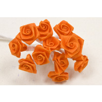 Mini rose mariage en satin Orange