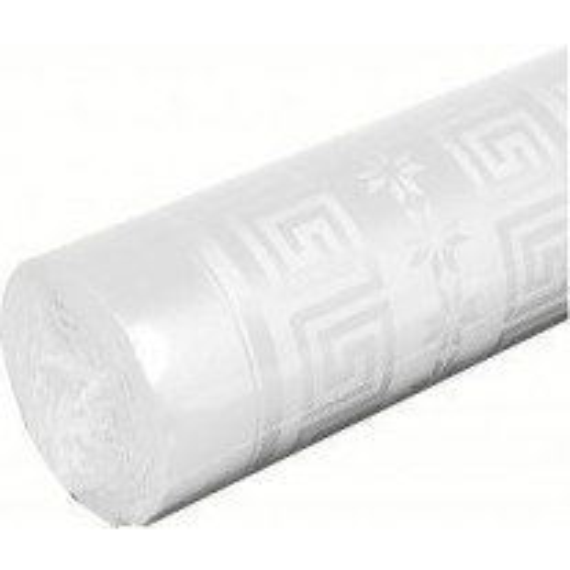 Nappe en papier damassé 25 mètres x 1.18 m Blanc