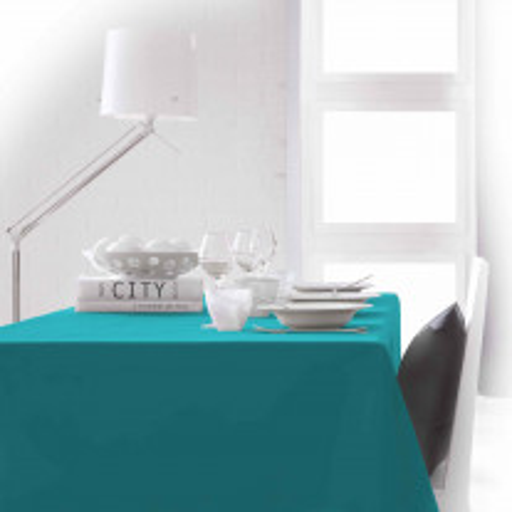 Nappe de table rectangulaire anti tache Turquoise