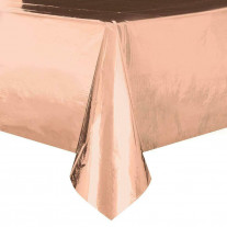 Nappe en plastique rectangulaire Rose Gold