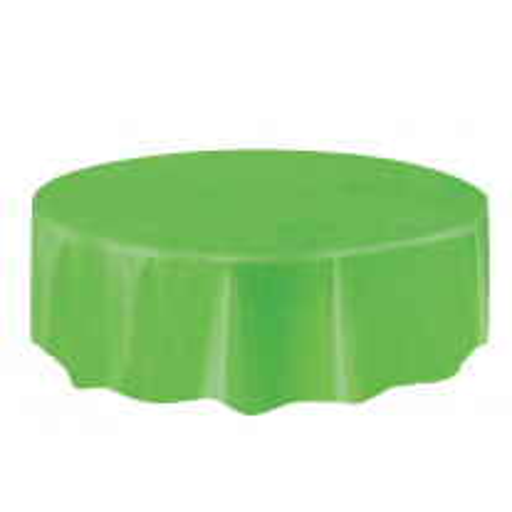 Nappe en plastique ronde Vert anis 210cm