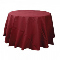Nappe ronde jetable bordeaux 240cm
