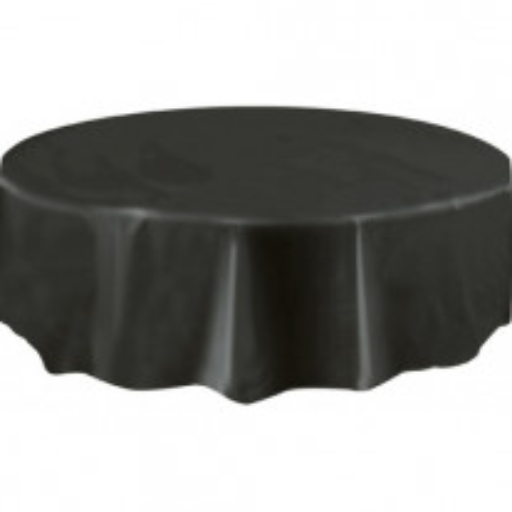 Nappe ronde en plastique noire 210cm