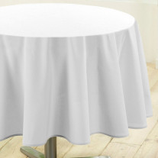 nappe ronde tissu blanche 180cm