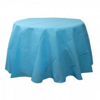 Nappe ronde turquoise jetable 240cm