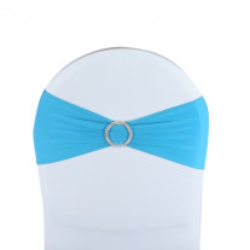 Noeud de chaise mariage en lycra Turquoise
