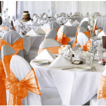 Noeud de chaise mariage organza Orange