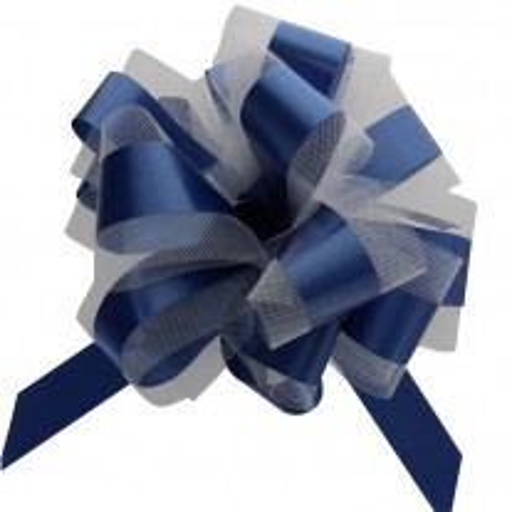 Noeud en tulle Bleu Marine 50cm